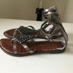 Sam Edelman Ginger Beaded Gladiator Sandals new